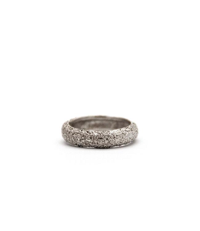Arior Barcelona Wedding ring Anell desert canya 18 karaats witgoud