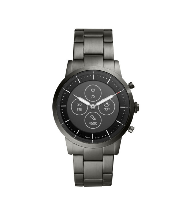 Fossil Collider Hybrid Smartwatch Hr - Roestvrij Staal