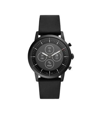 Fossil Collider Hybrid Smartwatch Hr - Silicone Zwart