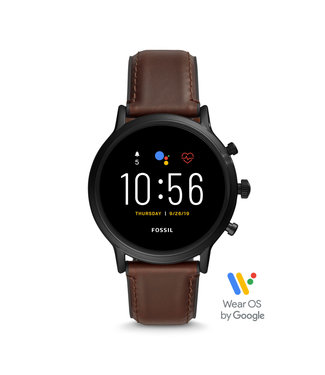 Fossil Gen 5 Smartwatch - The Carlyle Hr Dark Brown Leather