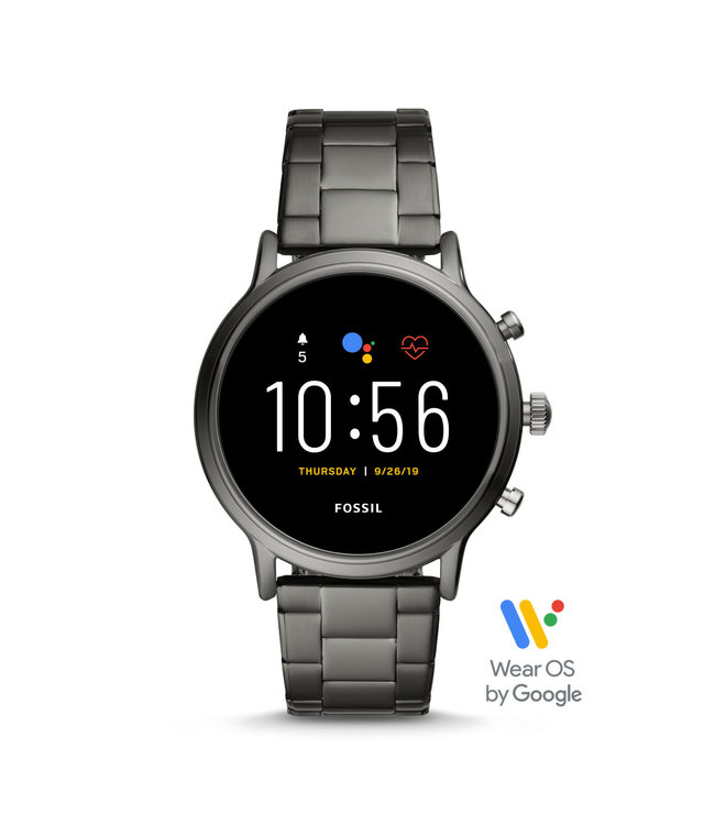 Fossil Gen 5 Smartwatch - The Carlyle Hr Smoke Stainless Steel