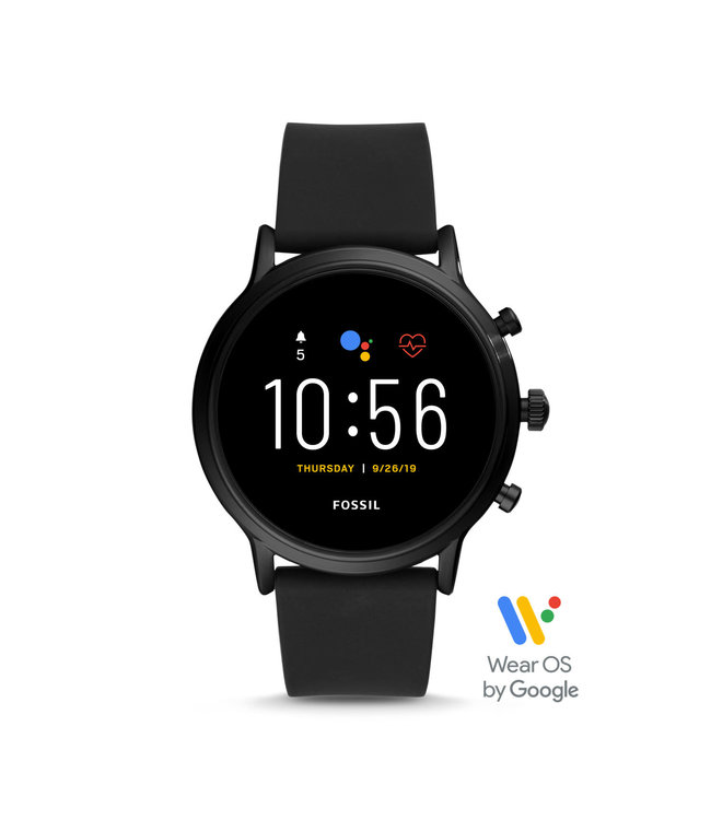 Fossil Gen 5 Smartwatch - The Carlyle Hr Black Silicone