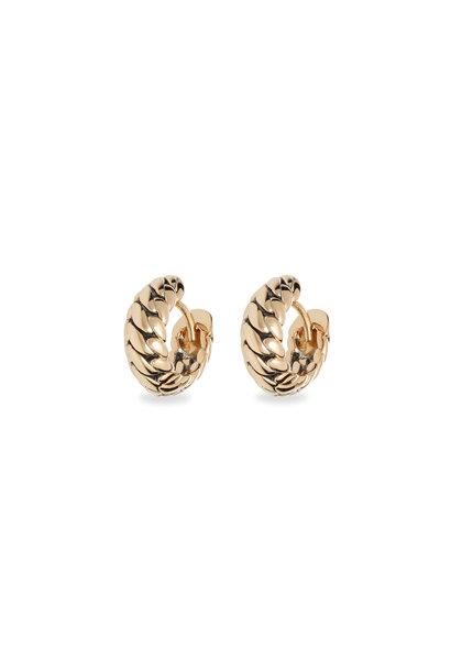 Ben Yellow Gold Earrings
