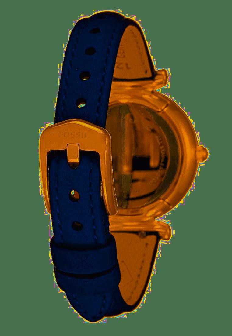 Carlie Mini Three-Hand Navy Leather Watch ES4502-2
