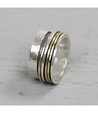 Jeh Jewels Ring zilver + Goldfilled 20061