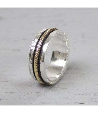 Jeh Jewels Ring Silver + Gold Filled 18483