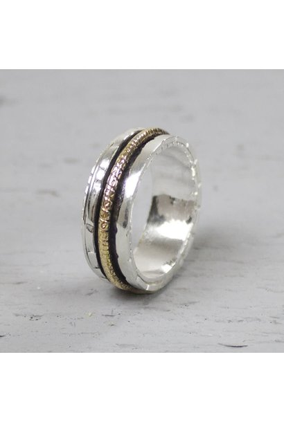 Ring Silver + Gold Filled 18483