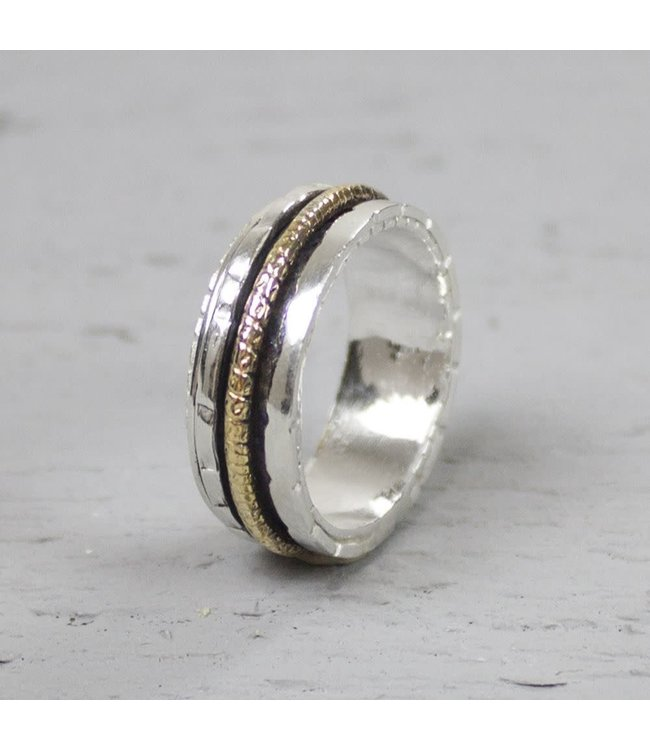 Jeh Jewels Ring zilver + Goldfilled 18483