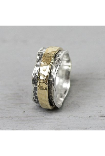 Ring Silver + Gold Filled 19968