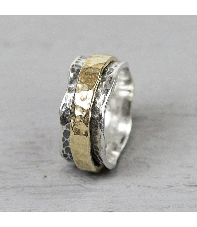 Jeh Jewels Ring zilver + Goldfilled 19968