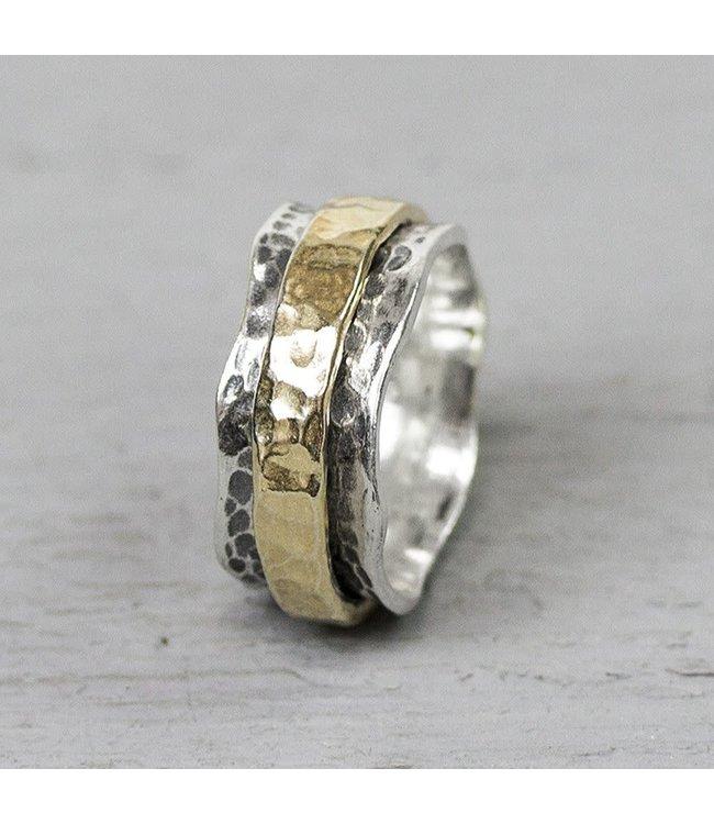 Ring zilver + Goldfilled 19968