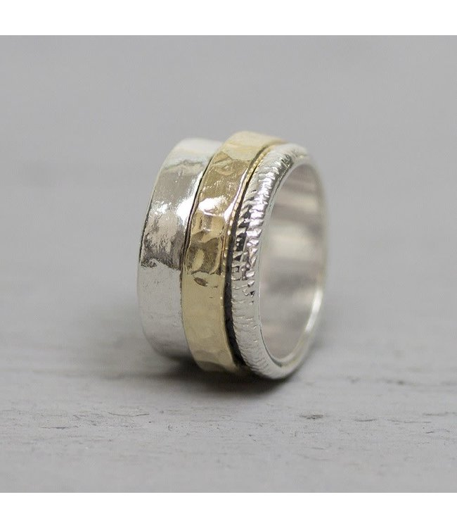 Ring zilver + Goldfilled 19967