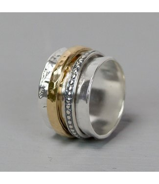 Jeh Jewels Ring zilver + Goldfilled 20099