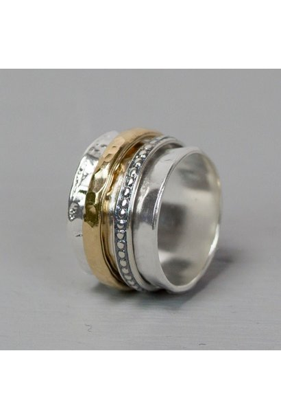 Ring Silver + Gold Filled 20099