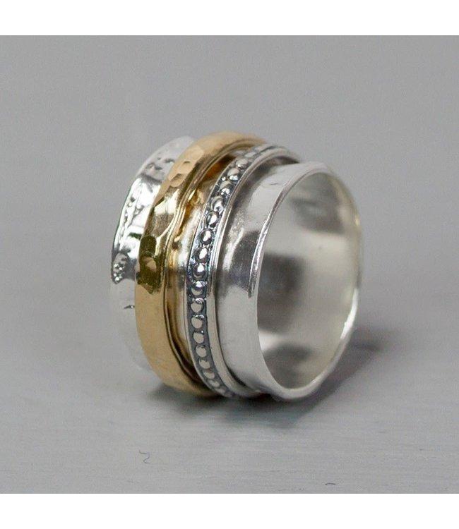 Ring zilver + Goldfilled 20099