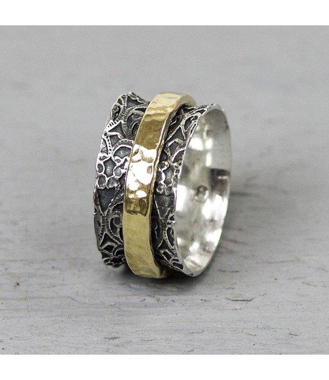 Ring zilver + Goldfilled 19970