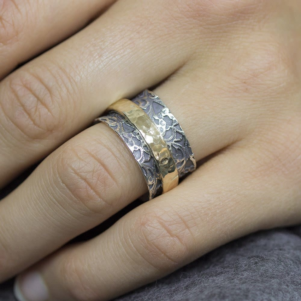 Ring Silver + Gold Filled 19970-2