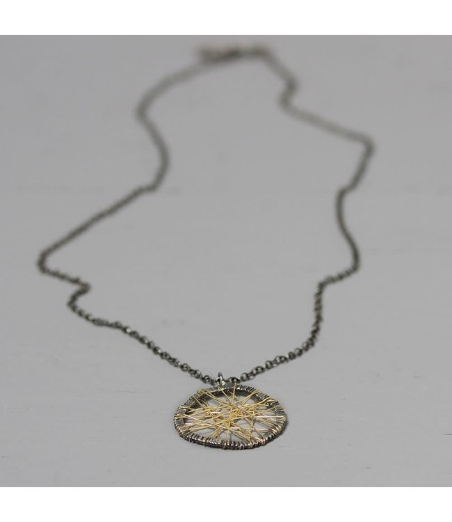 Jeh Jewels 20138 - Collier zilver met web van Goldfilled