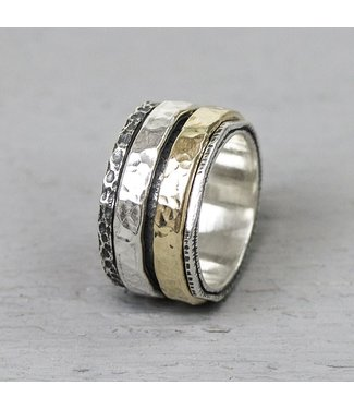 Jeh Jewels Ring Silver + Gold Filled 19969