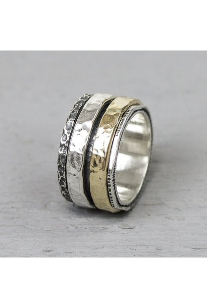Ring Silver + Gold Filled 19969