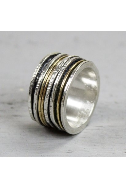 Ring Silver + Gold Filled 19436