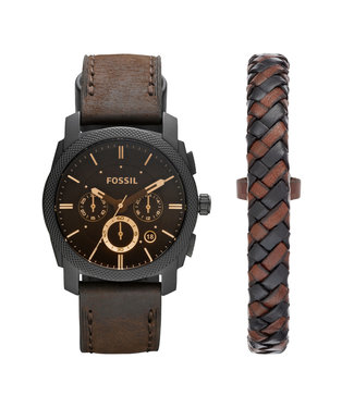 Fossil Machine Heren Horloge FS5251SET