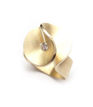 Cardillac Aster small Ring briljant 0,07crt