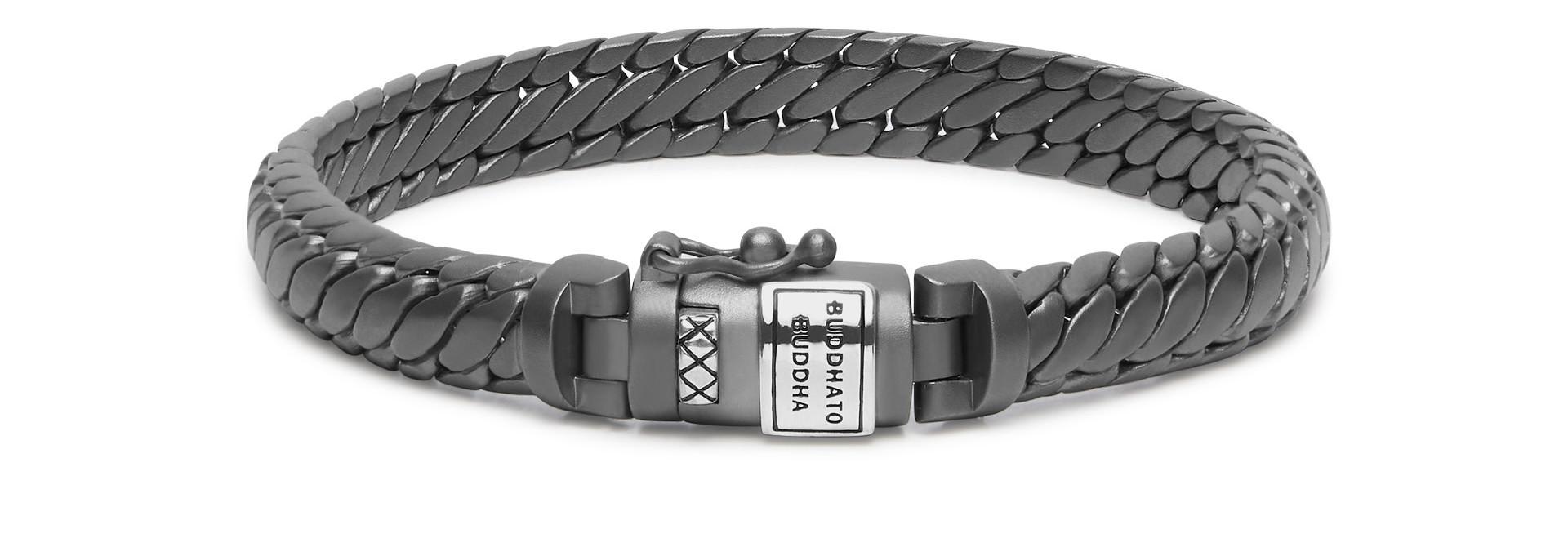 Bracelet Ben XS Black Rhodium Silver