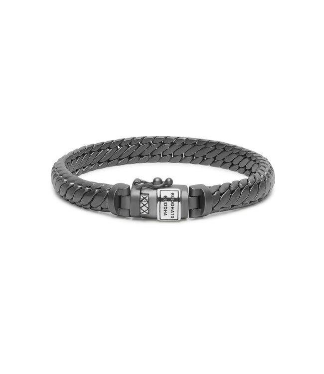 Armband Ben XS Black Rhodium Zilver