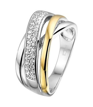 Excellent Jewelry Ring Silver / Gold zirconia RF625170