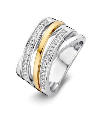 Excellent Jewelry Ring zilver/goud zirkonia RF625214