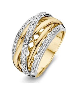Excellent Jewelry Ring bicolor brilliant Carat 0.34 crt. RG416343