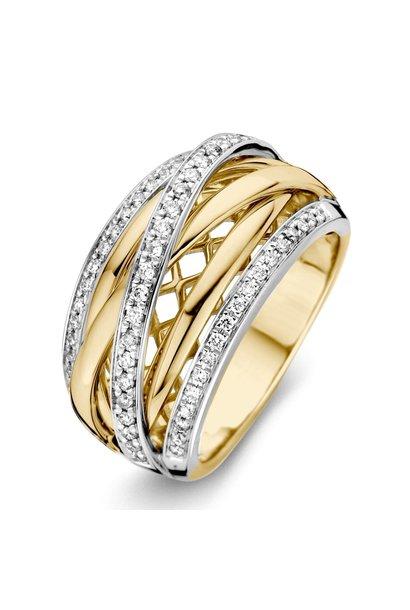 Ring bicolor brilliant Carat 0.34 crt. RG416343