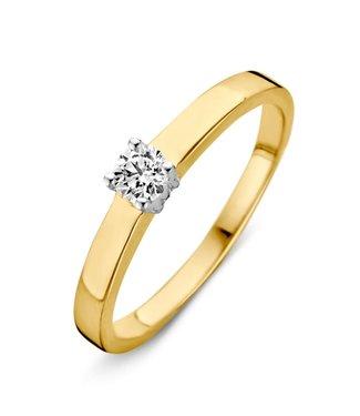 Excellent Jewelry Ring bicolor zirconia RH425874