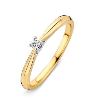 Excellent Jewelry Ring bicolor brilliant 0.15 crt. RG413910