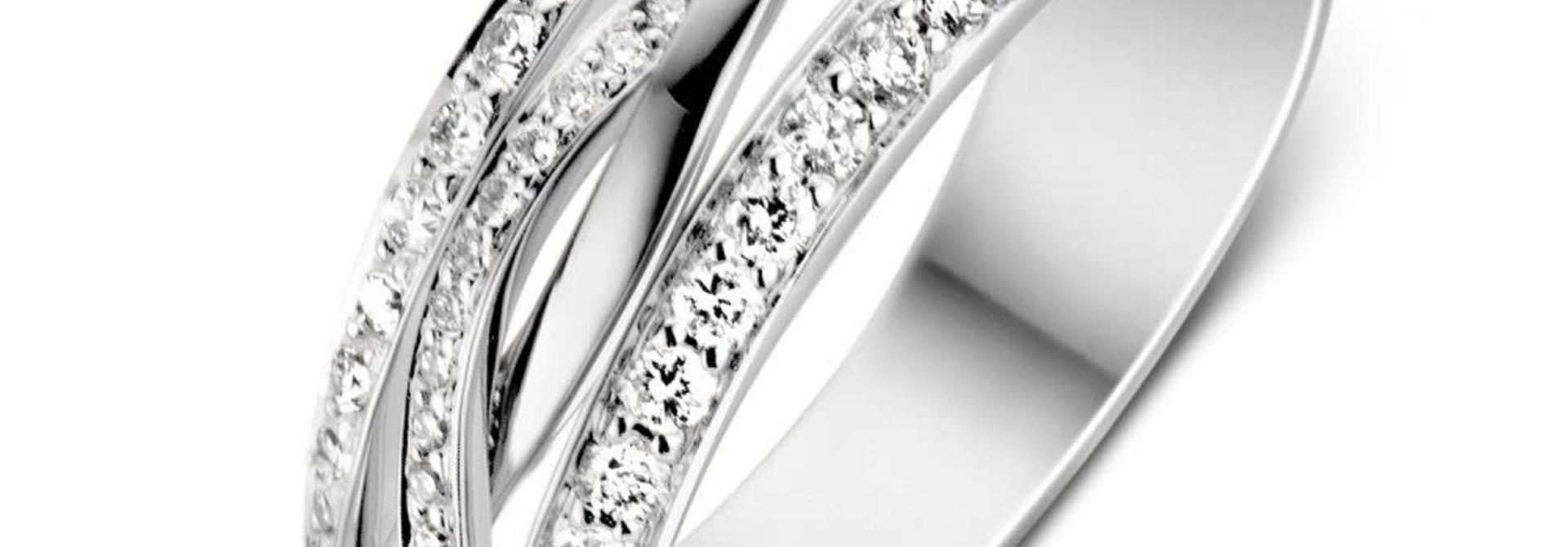 Ring white gold brilliant Carat 0.57 crt. RP216633