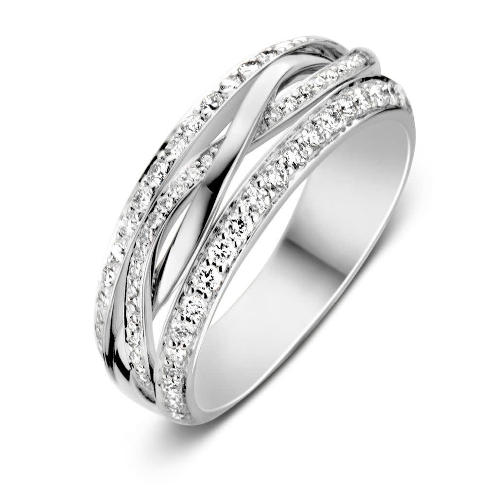 Ring white gold brilliant Carat 0.57 crt. RP216633-1