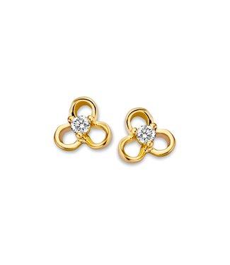 Excellent Jewelry Studs gold zirconia