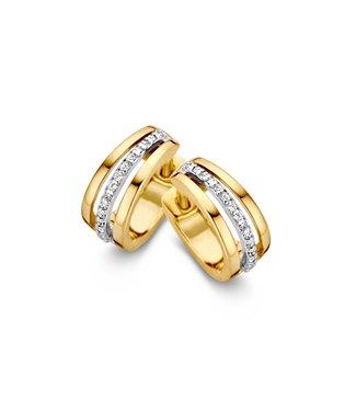 Excellent Jewelry Creole bicolor zirconia