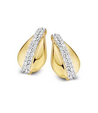 Excellent Jewelry Oorsteker bicolor zirkonia