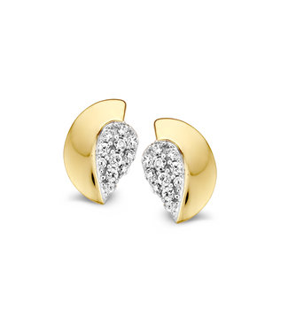 Excellent Jewelry Studs zirconia bicolor