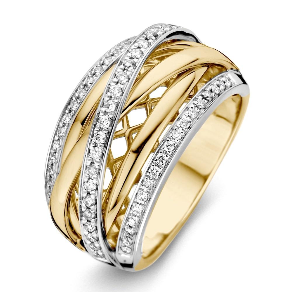 Ring bicolor brilliant Carat 0.34 crt. RG416343-2