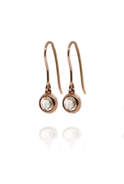 W. de Vaal - earrings 14k Red Gold.