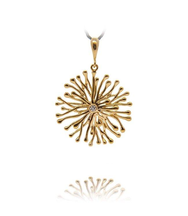 Leoni Jewellery Pendant 14K Gold and diamond 0.047ct 297TD