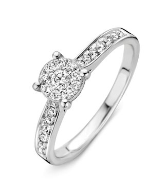 Excellent Jewelry Ring white gold brilliant RK21