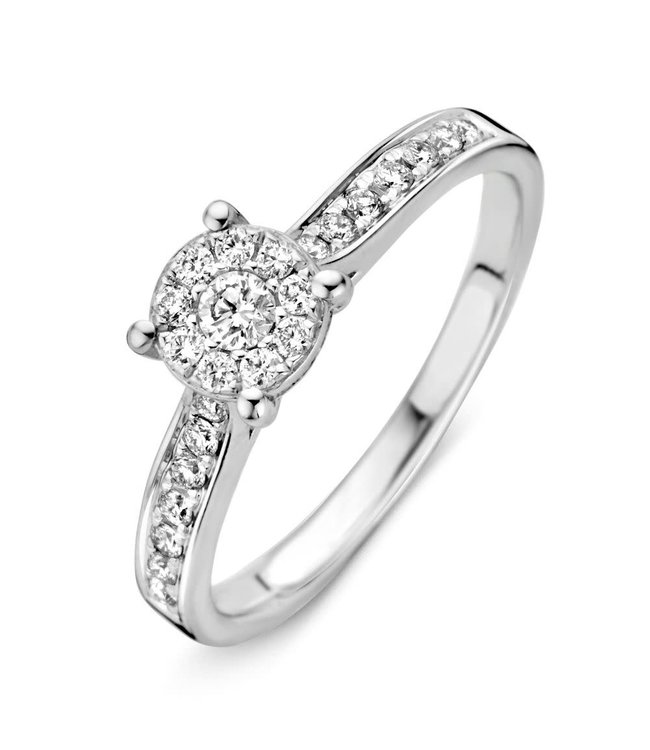 Excellent Jewelry Ring witgoud briljant RK215026 (0,38 crt)