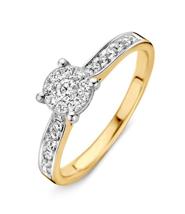Excellent Jewelry Ring bicolor briljant RK41