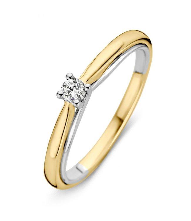 Excellent Jewelry Ring bicolor briljant RG41