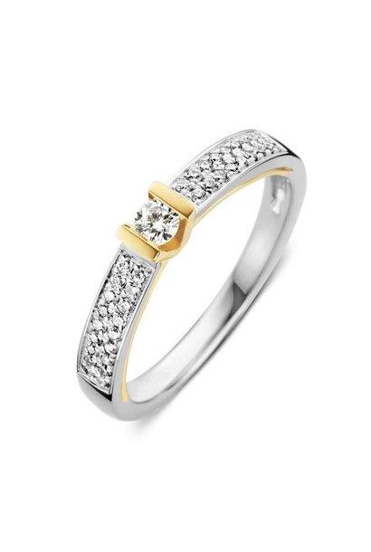 Ring bicolor briljant  RG416663