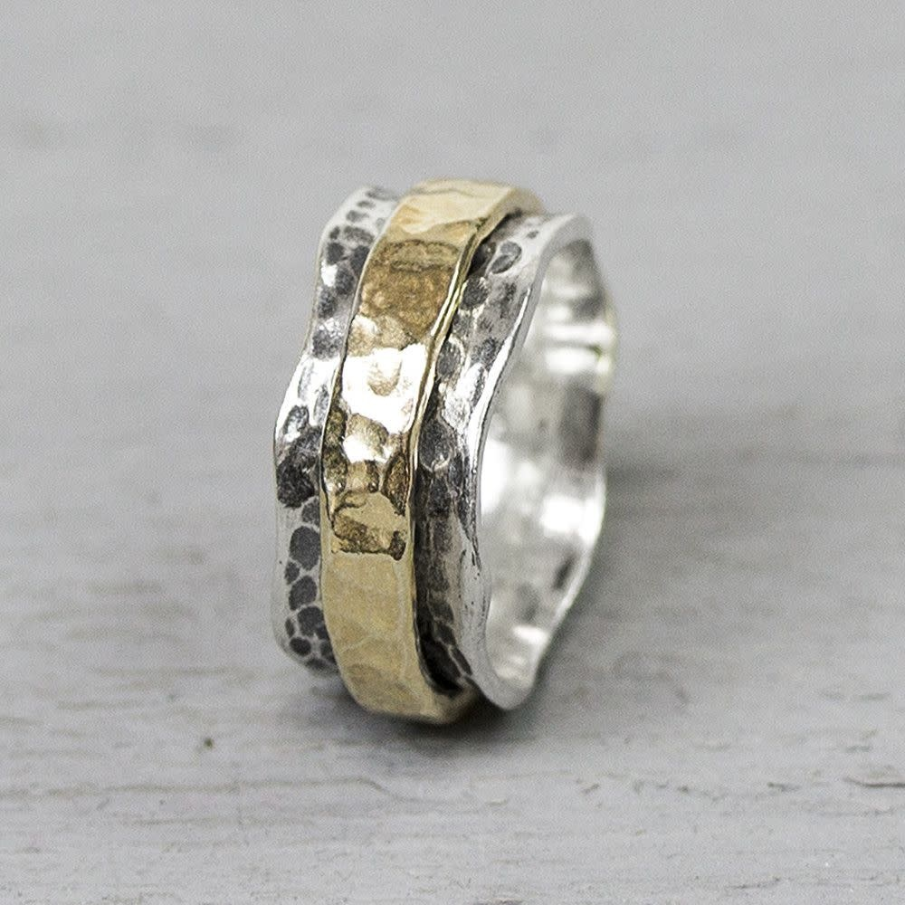 Ring Silver + Gold Filled 19968-4